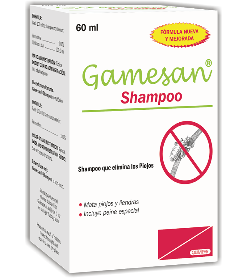 Gamesan Shampoo frasco 60 ml