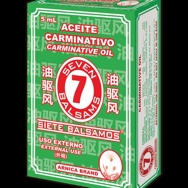 Aceite Carminativo 7 Bálsamos frasco 5 ml