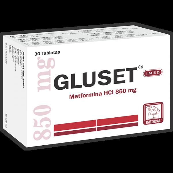 Gluset Tableta 850 mg caja x30