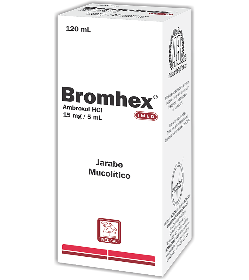 Bromex Jarabe 15 mg / 5 ml frasco 120 ml
