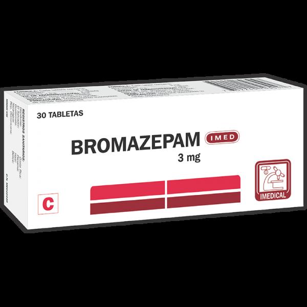 Bromazepan Tableta 3 mg caja x30 (Producto Controlado)