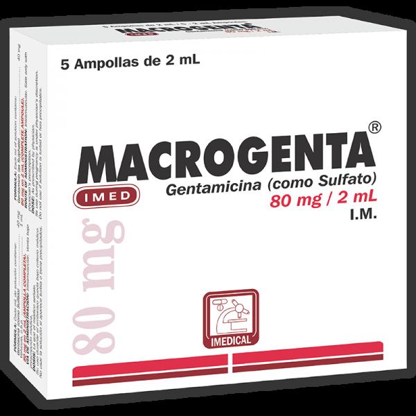 Macrogenta Ampolla Inyectable 80 mg / 2 ml caja x5