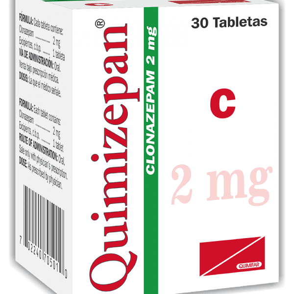 Quimizepan Tableta 2 mg frasco x30