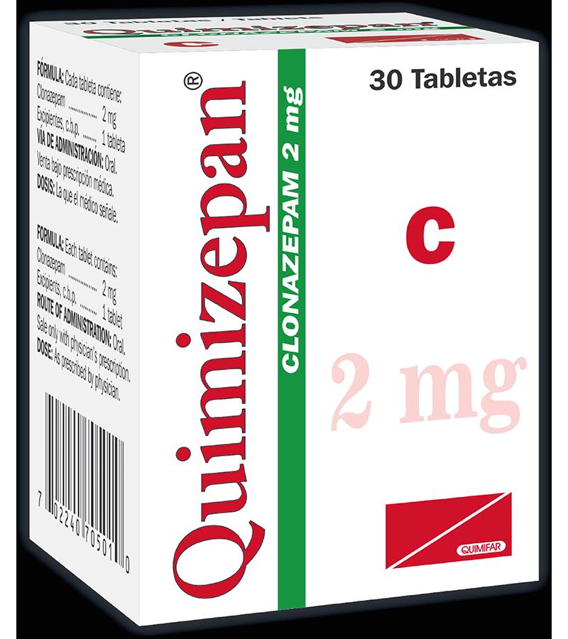 Quimizepan Tableta 2 mg frasco x30