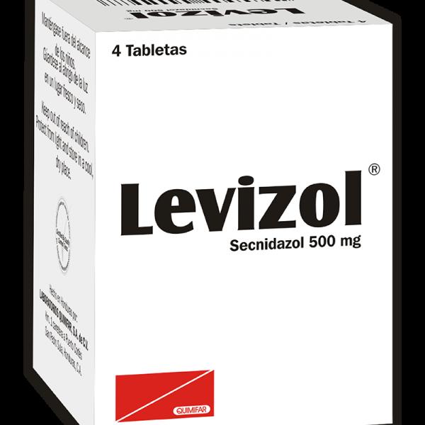 Levizol Tabletas 500 mg caja x4