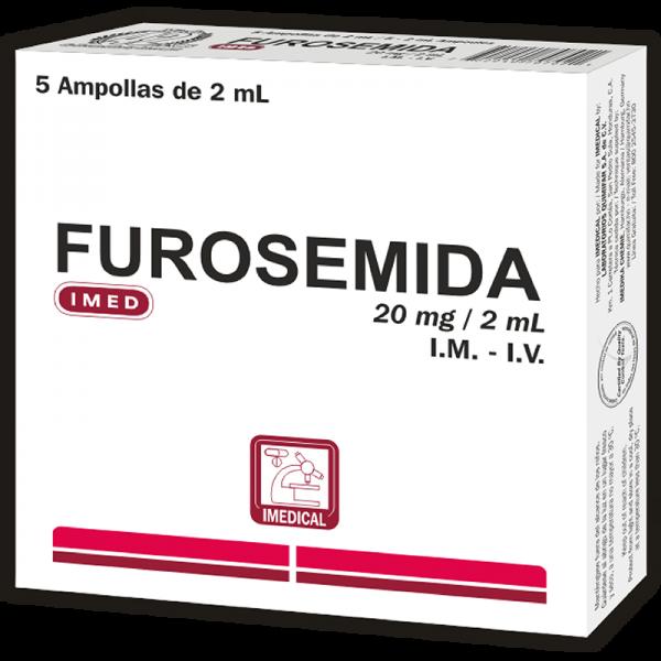Furosemida Ampolla Inyectable 2 ml/ 20 mg caja x5