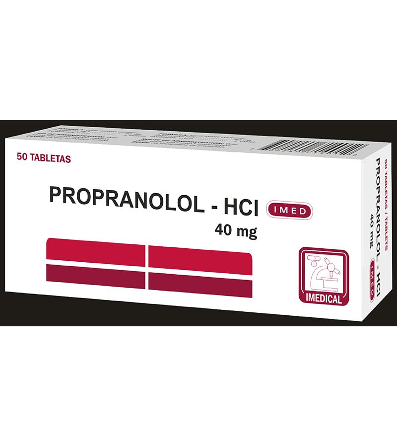 Propranolol Tableta 40 mg caja x50