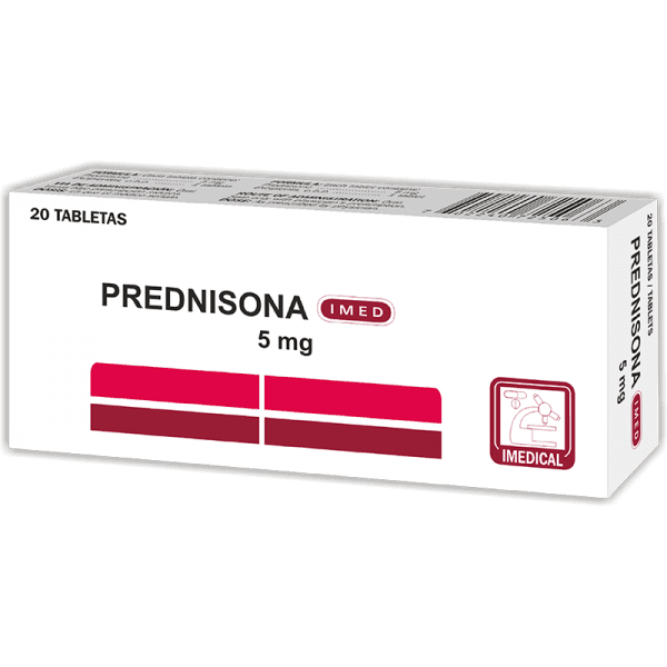 Prednisona Tableta 5 mg caja x20