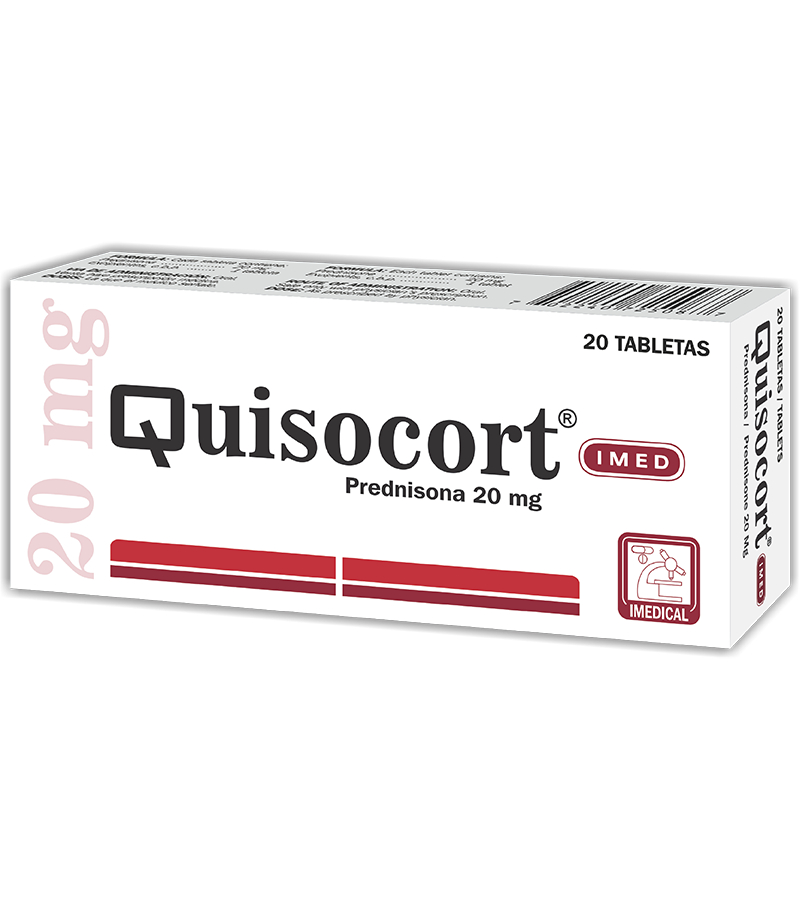 Quisocort Tableta 20 mg caja x20